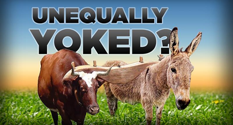 Image result for Do not be unequally yoked kjv